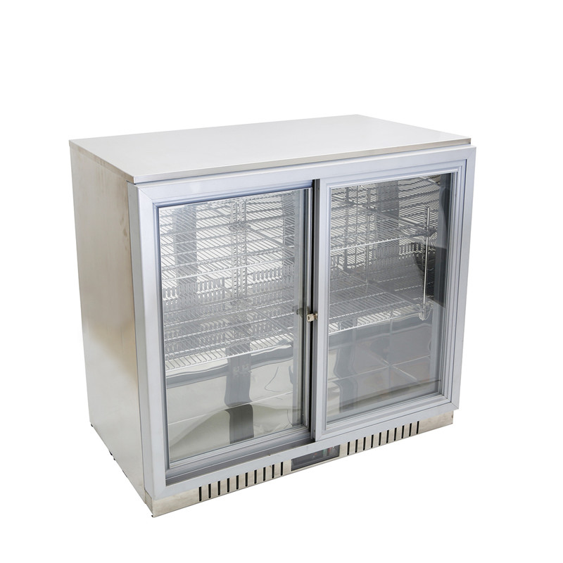 Double Door Back Bar Beer Display Fridge