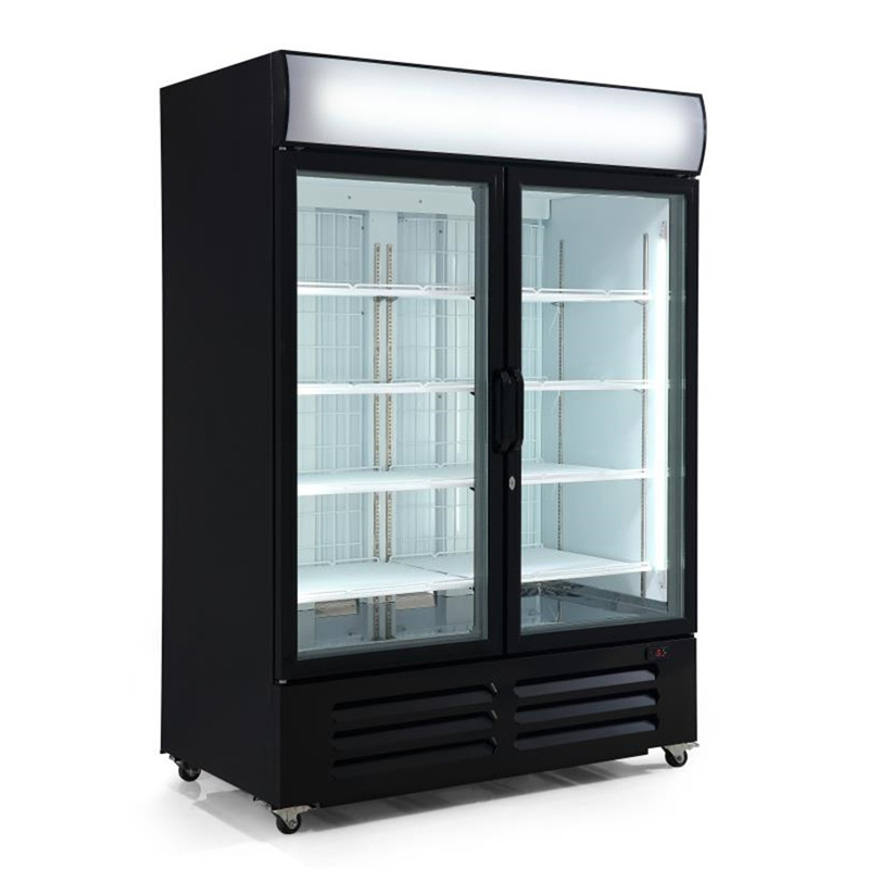 Double Door Upright Freezer Upright Display Fridge