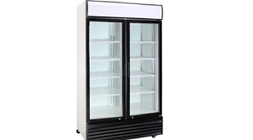 Double Door Refrigerator Double Glass Door Merchandiser Series