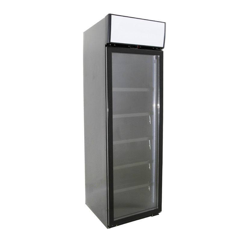 Single Door Compressor Glass Door Beverage Fridge