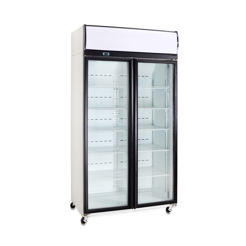 Double Door Compressor Top Upright Cooler