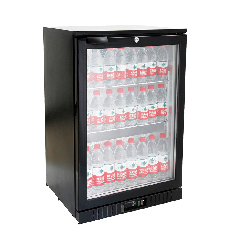 Single Door Back Bar Metal Beer Cooler