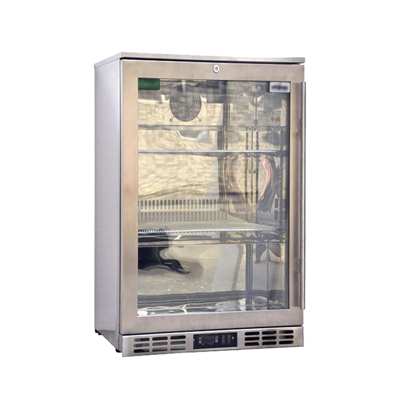 Single Door Back Bar Stainless Steel Refrigerator