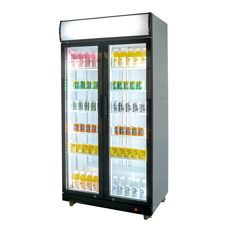 Double Door Upright Display Fridge