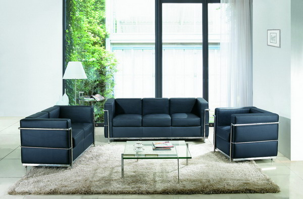 HF001 Three Seater PU Sofa