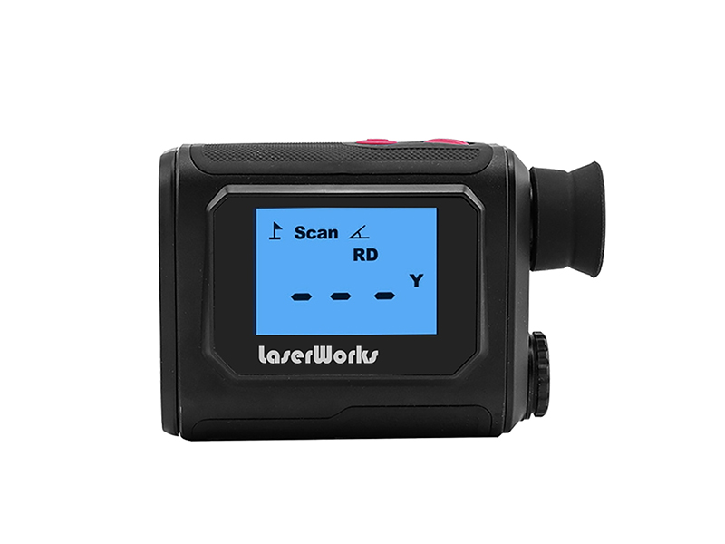 Golf Range Finder with External LCD Display