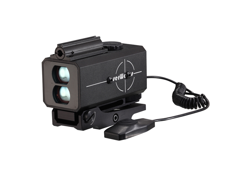 hunting laser range finder with visible laser