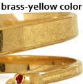 brass-yellow color