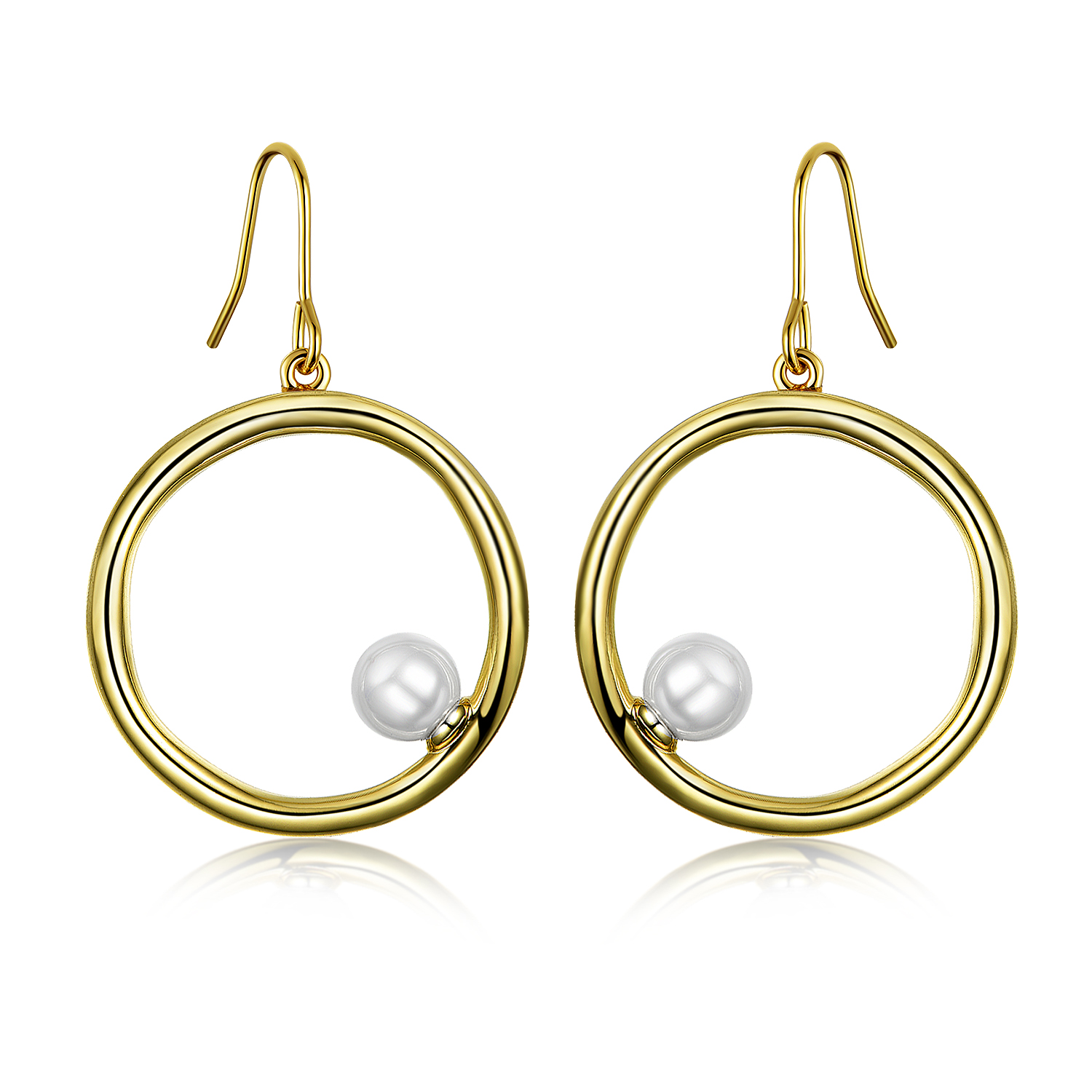 ST2702 Fresh/Shell Pearl Circel  Earring/Pendant/Ring Jewelry Set in 14K Gold from China trustable Jewelry wholesaler