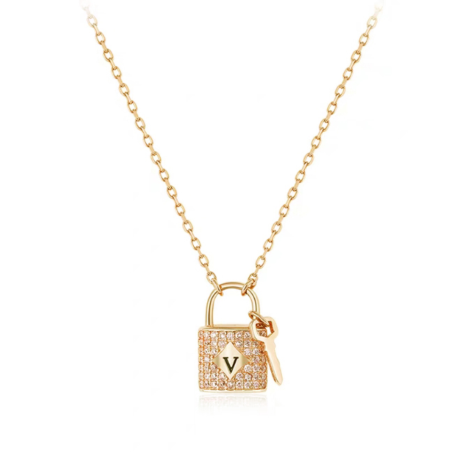 PE3492- Lock & Key Pendant with