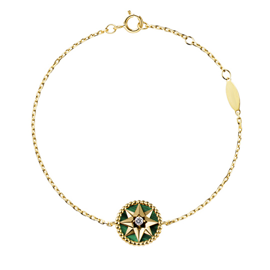 ST2746-Rose Des Vents Malachite/Lasurite Necklace & Bracelet in Silver Silver under 18K Gold plated