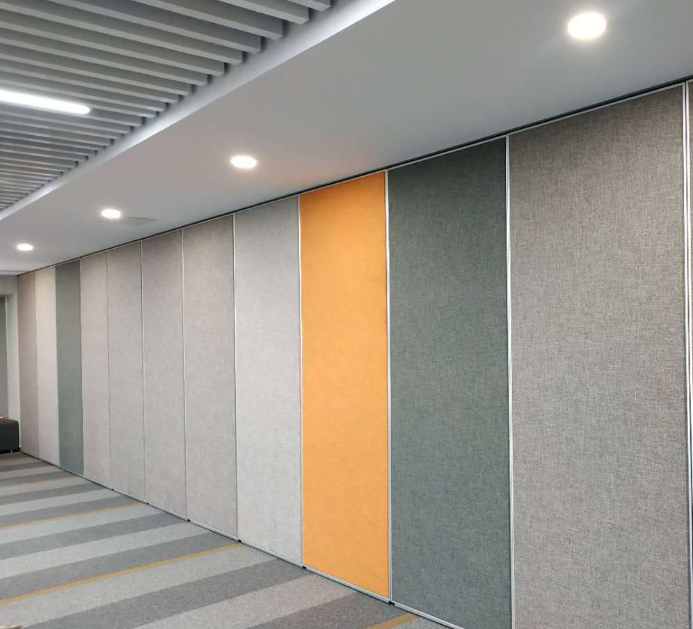 Hard fabric movable partition wall
