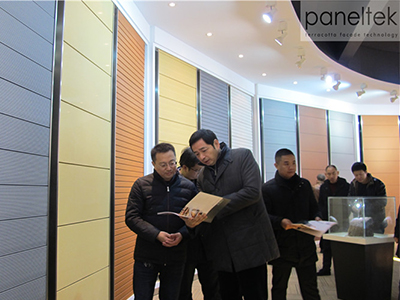 Delegation of a real estate project came to visit PANELTEK CHINA