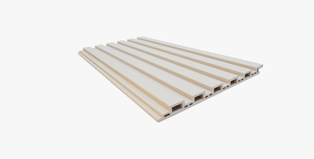 White Grooved Terracotta Panel System