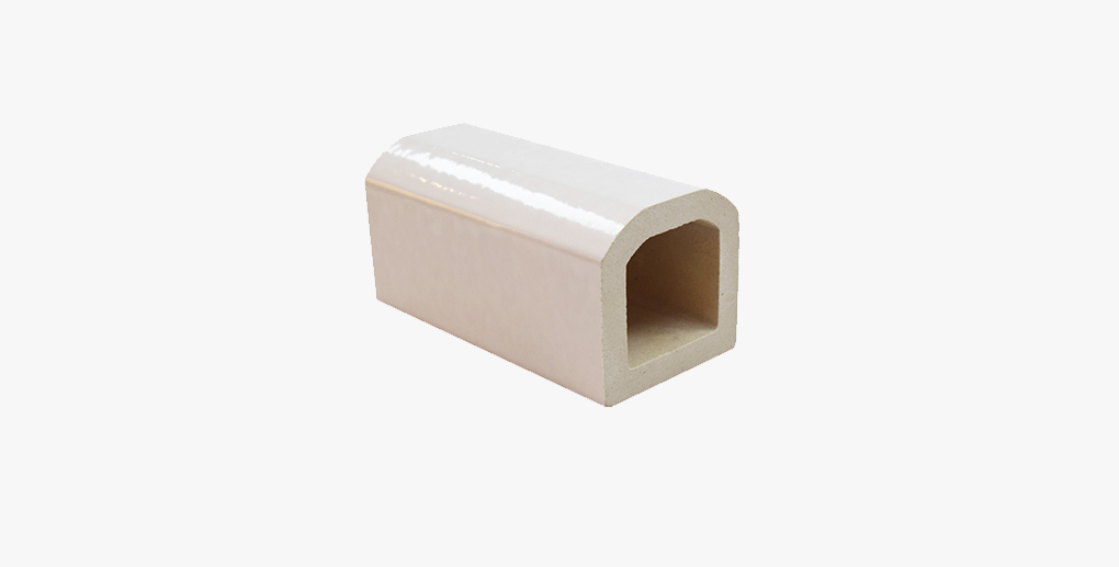 White glazed decorative terracotta baguette louver