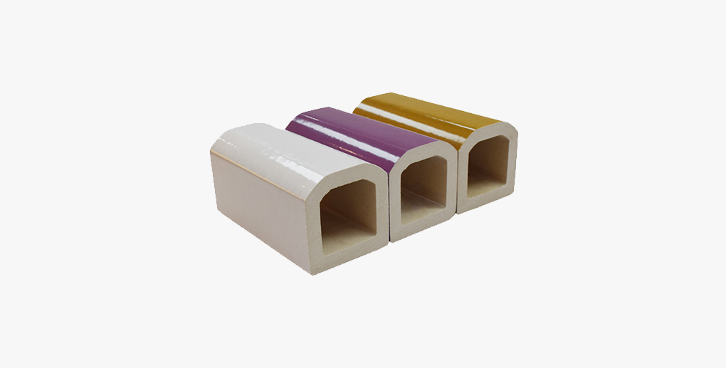 Customized art design terracotta baguette with facade panel