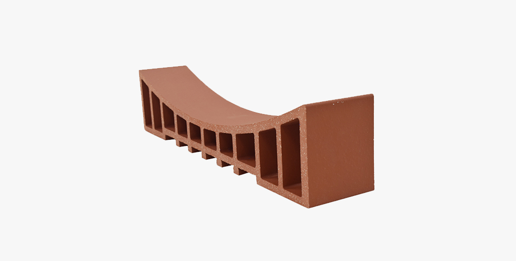 Customized curve shape decorative terracotta cladding panel and louver