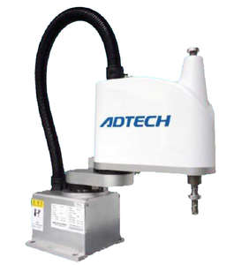ADTECH 4-axis 2kg payload scara robot with 300mm arm reach