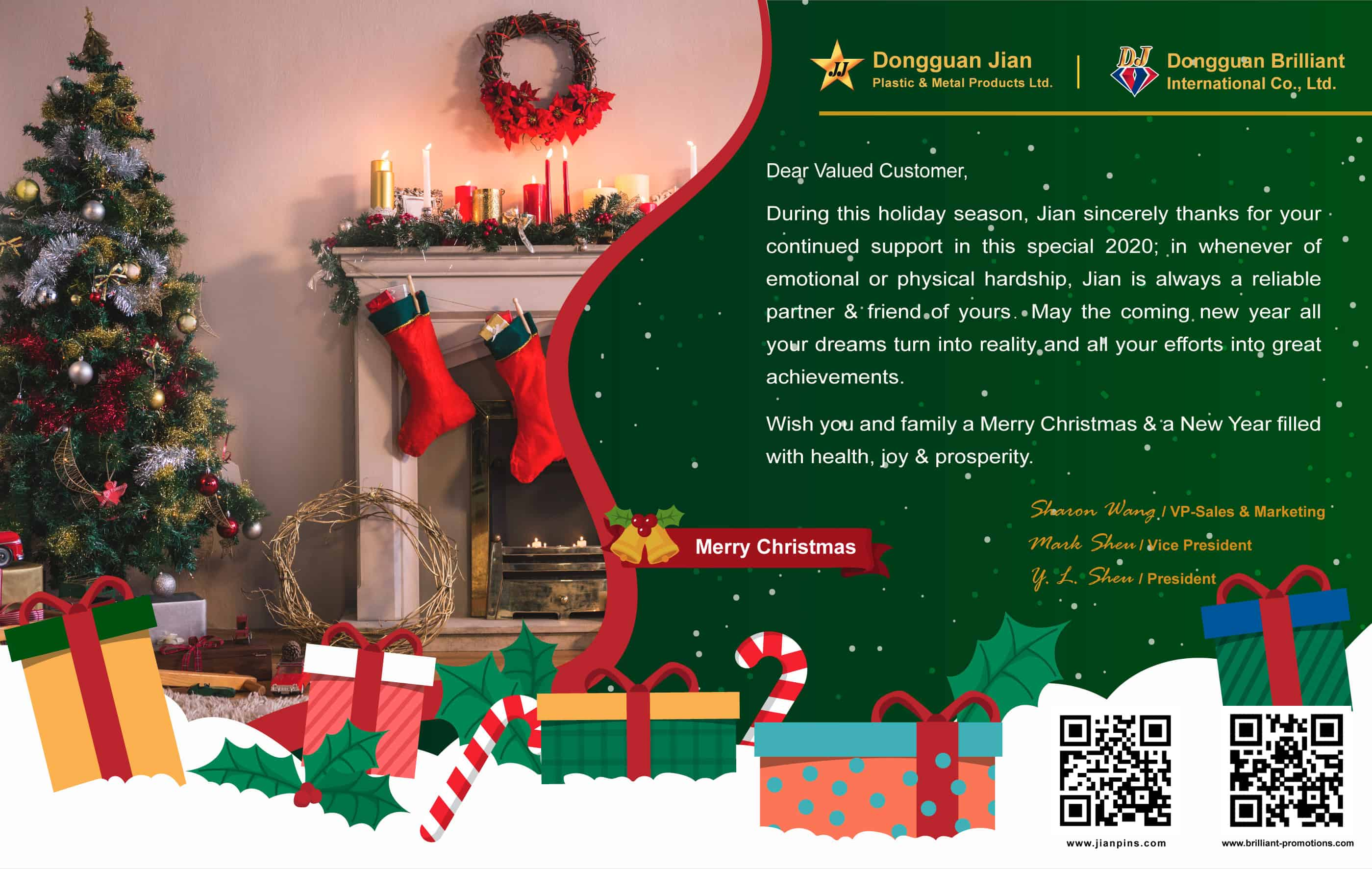 Christmas Ty 2021 Products Merry Christmas And Happy New Year Greeting From Dongguan Jian Brilliant