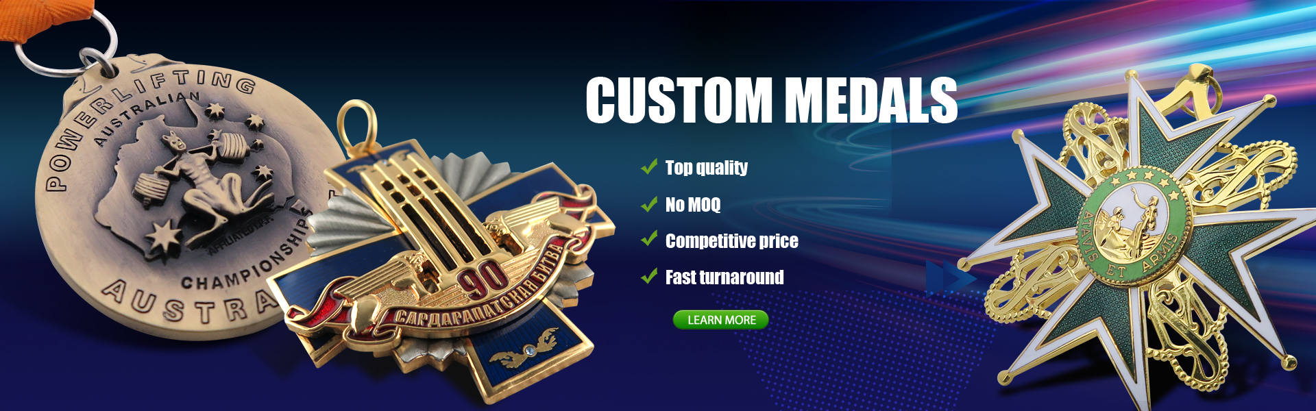 Custom made Medals Manufacturer