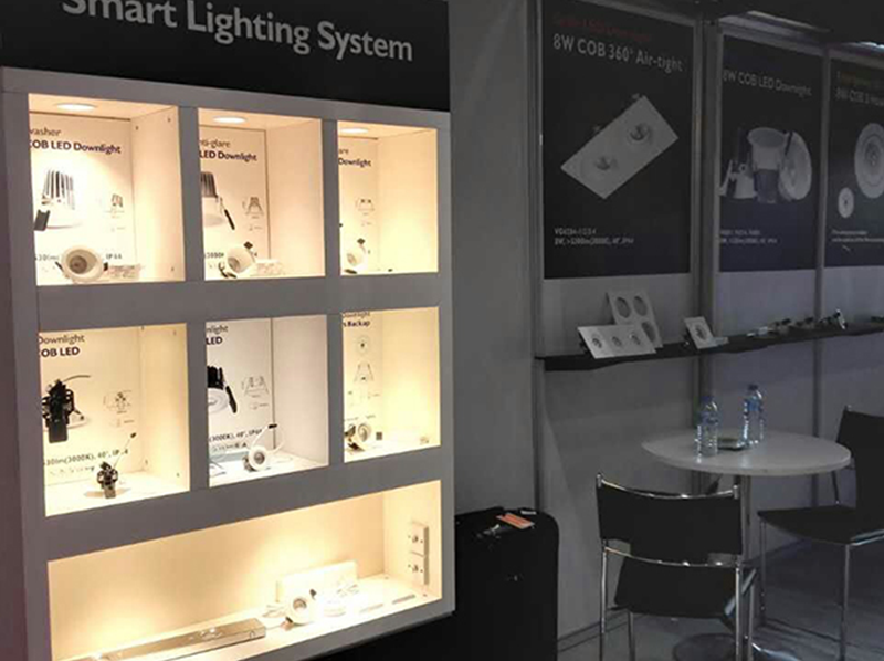 Vertex Smart Control LED lighting Shine Bright in the Doha Exhibition Centre
