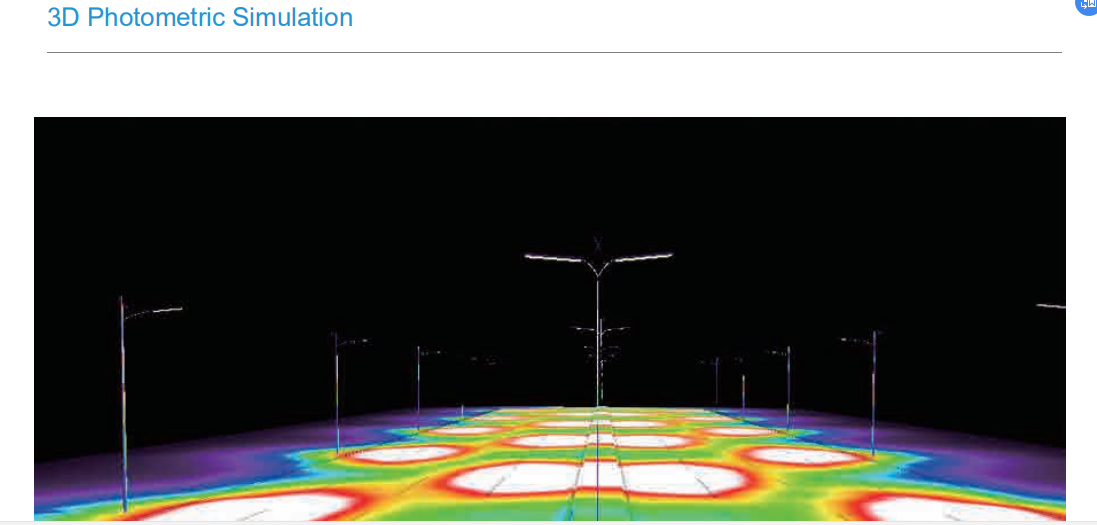 3D photometric of solar led street lights