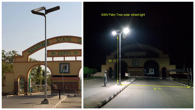 project of solar street light in Nigeria