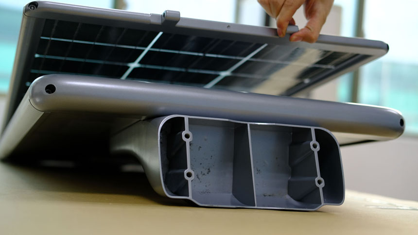 foldable all in one solar light
