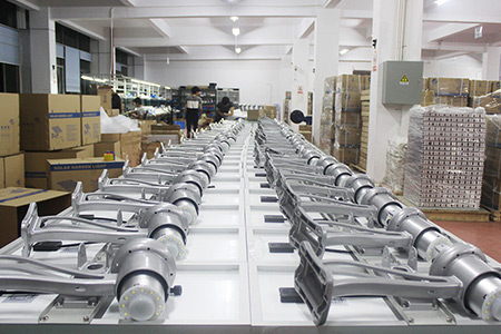 production line of solar street light