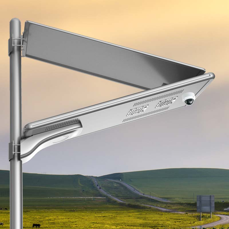Solar street lights with CCTV camera