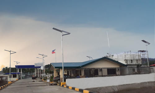 100W quality solar led street light project in Philippine
