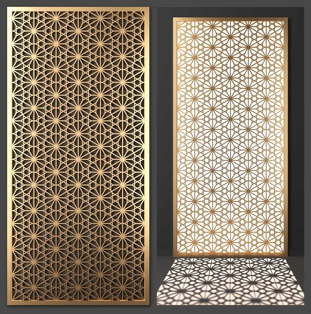 Stainless Steel Laser Cut Decorative Wall Panel
