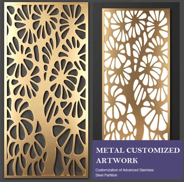 Stainless Steel Laser Cut Metal Partition