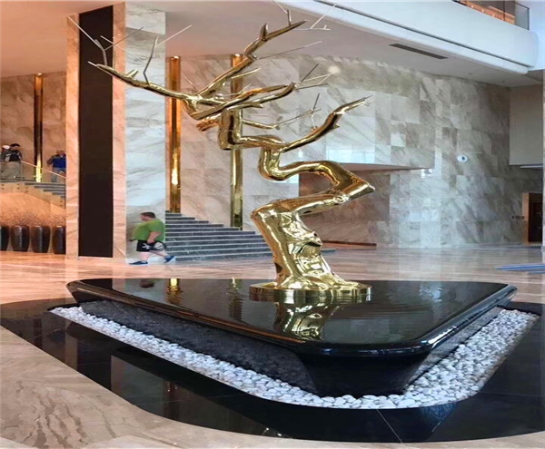 Hotel Lobby Decoration Stainless Steel Sculpture