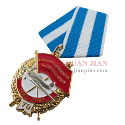 Custom military medals or medallions made of rare cloisonné