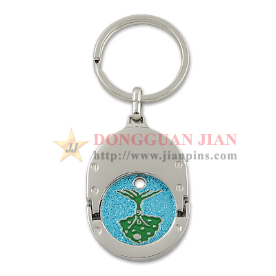 Caddy & Trolley Coin Keychain
