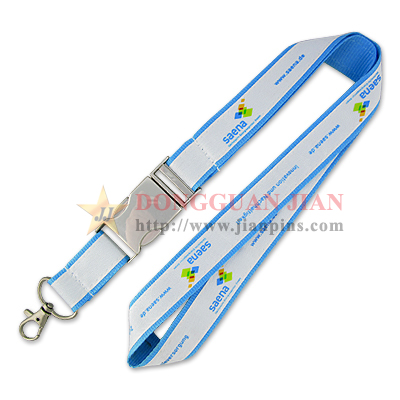 printed satin lanyards