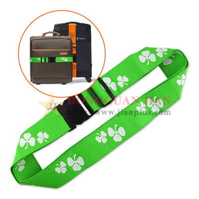 green luggage belt