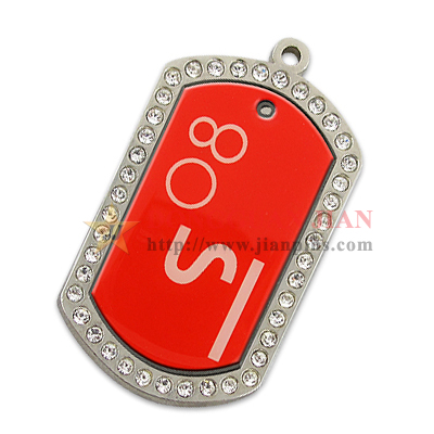 Personalized Dog Tags With Rhinestones