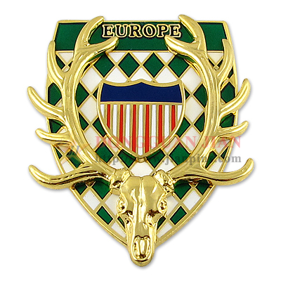 European Military Badge Pin