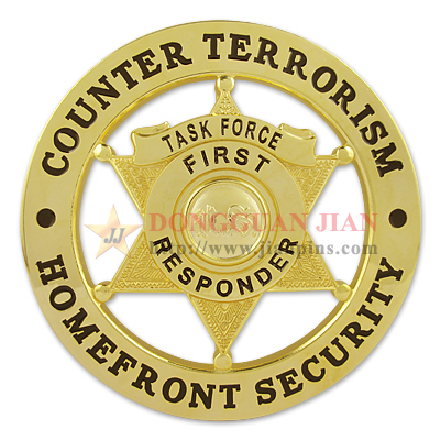 Badge contre le terrorisme