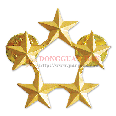 Star Rank Pin Badges