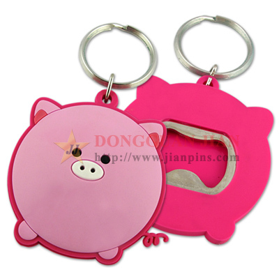 Soft PVC Bottle Openers Keychain