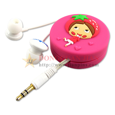 Custom Soft PVC Earphone Holders