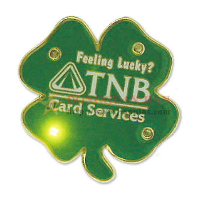 Shamrock LED Flashing Pin