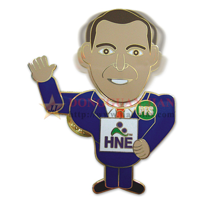 Bobble Head Custom Souvenir Pin