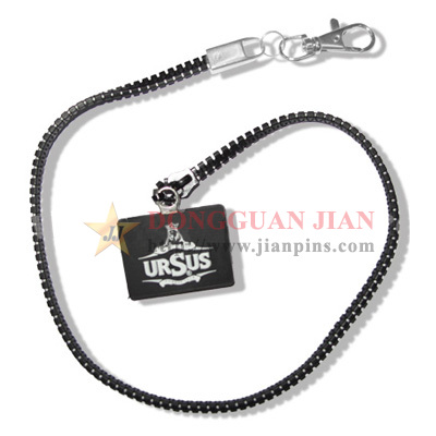 Zipper Lanyards with Charm