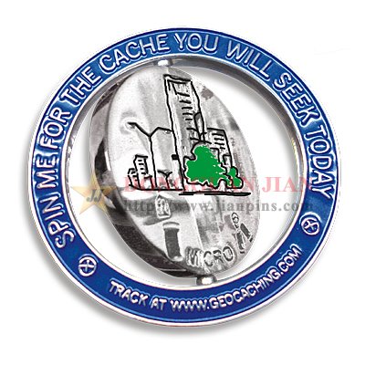 Two-tone Plating Spinning Badge