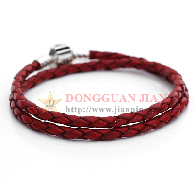 Leather women bracelets
