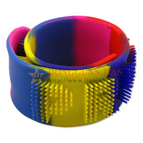 Silicone Slap Bracelets with Bristles